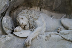 The Crying Lion Memorial, Luzern Stock Photography