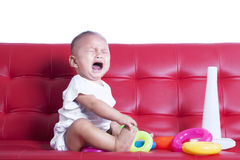 Crying little baby Stock Photography