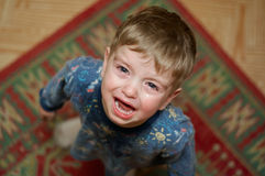 Crying little boy. Asks his mother's candy Royalty Free Stock Image