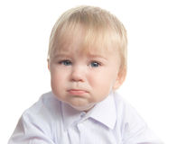 Crying little child Stock Images