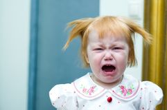 Crying little girl Stock Photo