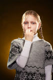 Crying little girl Stock Images