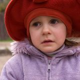 Crying little girl Stock Photos