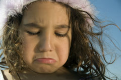 Crying little girl royalty free stock photos