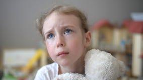Crying little girl.