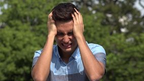 Crying Male Hispanic Teenager. A handsome hispanic male teen stock footage