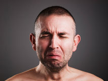 Crying man Royalty Free Stock Photos