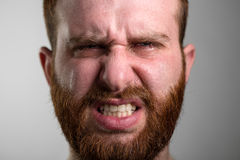 Crying Man with Beard Stock Photography