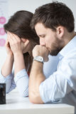 Crying married couple Stock Images