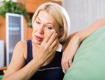 Crying  mature woman Stock Image