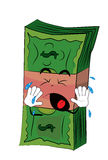 Crying Money cartoon Royalty Free Stock Images