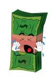 Crying Money cartoon Royalty Free Stock Images