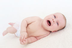 Crying 2 months baby Royalty Free Stock Image