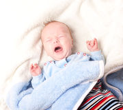 Crying newborn baby Royalty Free Stock Photography