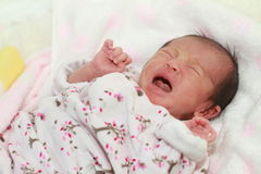 Crying newborn baby Royalty Free Stock Images