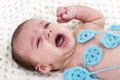 Crying newborn Royalty Free Stock Photo