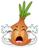 Crying Onion Cartoon Character Stock Images
