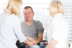 Crying patient Stock Photography