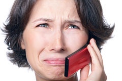 Crying phone Stock Images