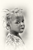 Crying poor girl from Ghana Stock Photography