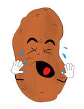 Crying potato cartoon Royalty Free Stock Image