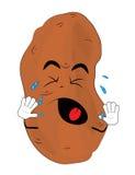Crying potato cartoon Royalty Free Stock Image
