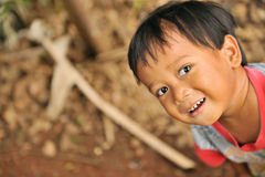 Crying Poverty Child. Children living in poverty. Indonesia stock image