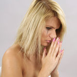 Crying_pray01 Stock Image
