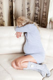 Crying pregnant woman Stock Photography