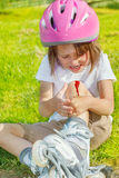 Crying preschool girl Stock Photos