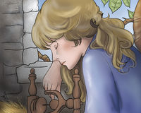 Crying princess -Fairy tales Royalty Free Stock Photography