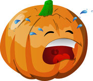 Crying pumpkin Royalty Free Stock Photography