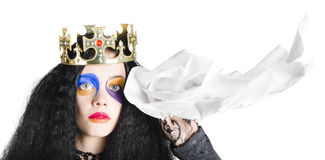 Crying queen Royalty Free Stock Photos