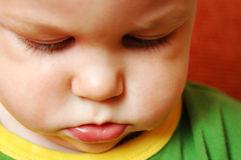 Crying sad baby Stock Photography