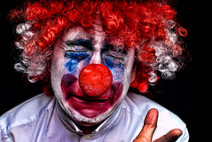 Crying sad clown Stock Image