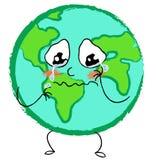 Crying sad planet earth Stock Photo