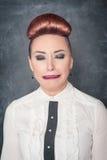 Crying sad woman Stock Photo