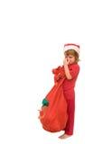 Crying Santa stock image