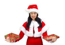 Crying Santa Claus Stock Image