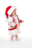 Crying santa girl Royalty Free Stock Image