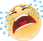 Crying smiley Stock Photography