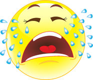 Crying Smiley. Emotions. Royalty Free Stock Photos