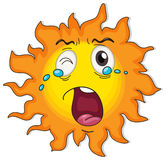 A crying sun Stock Photo
