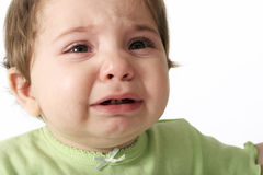 Crying Tears. Baby crying Royalty Free Stock Image