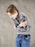 Crying teen boy Stock Photo