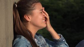 Crying Teen Girl Royalty Free Stock Photography