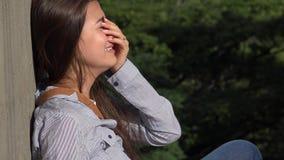 Crying Teen Girl Stock Photo