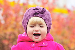Crying toddler Stock Images