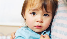 Crying toddler girl Stock Images