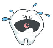 Crying tooth. In cartoon style Royalty Free Stock Images